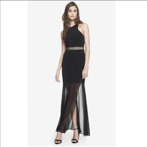 Like new Express shear maxi dress
